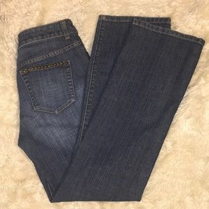 💠CHICOS Pyramid Studded Boot Cut Rocker JEANS💠